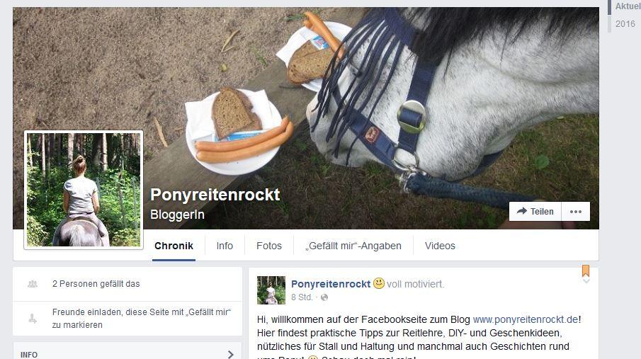 Ponyreitenrockt Facebook 1